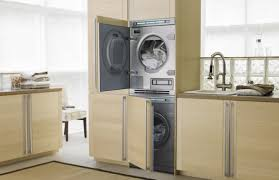 Interior:Modern Small Laundry Room Design With Side By Side Washer Also  Dryer Interesting Mdf