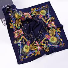 Designer Silk Scarves Fashion Designer Silk Scarf Women Printing Satin Scarves
