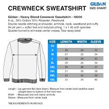 Gildan 18500 Size Chart Crewneck Sweatshirt