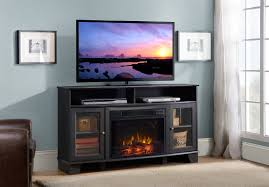 wilson a electric fireplace tv stand