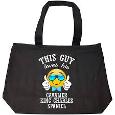 get ations cavalier king charles spaniel lover emoji gifts this guy tote bag with zip