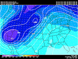 500 Mb Heights And Temperature Model Mode