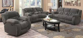 Reclining Living Room Sets Weissman Reclining Living Room Set Charcoal Coaster Furniture