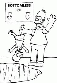 Small Picture Coloring Pages Simpsons Animated Images Gifs Pictures