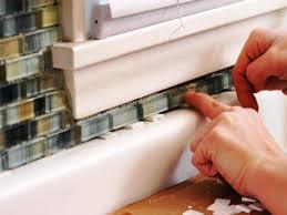 Diy Backsplash How To Install A Tile Backsplash How Tos Diy