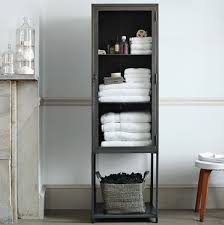 Beautiful Modern Bathroom Storage Tall Industrial Metal Bath Cabinet In Design Decorating