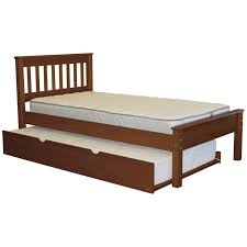 Details about Bedz King Mission Style Brazilian Pine Espresso Twin Trundle Bed