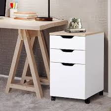 home office file storage. Contemporary Storage 3Drawer Rolling Filing Cabinet File Storage Organizer Home Office White  13x18 To