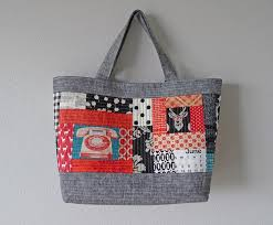 33 best Oh Fransson! images on Pinterest | Bags, Backpacks and ... & Quilted Tote (telephone, deer, polka dot, gingham Adamdwight.com