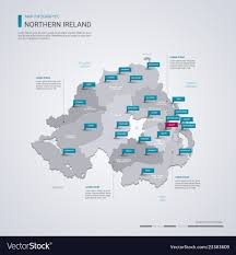 Marks Design Belfast Closed Northern Ireland Map With Infographic Elements