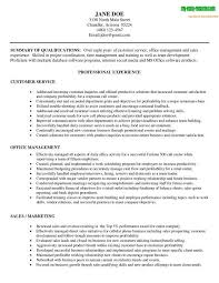 Summary Of Office Management With Customer Service Resumes And