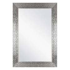 Image Wood Framed Fog Free Wall Mirror In Silver Home Depot Bathroom Mirrors Bath The Home Depot