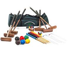 garden games longworth 6 player croquet set in a canvas carry bag