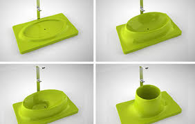Shape shifting bathtub concept in polymorphic material Designed