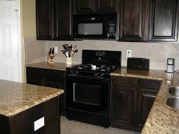 Great Modern Kitchen With Black Appliances in Interior Renovation ...