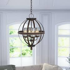 cage chandelier lighting 4 light globe chandelier cage shaped lighting chandelier