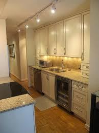 dazzling ideas galley kitchen track lighting best for your wearefound home design costs in