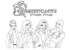 Disney Descendants Mal And Evie Coloring Pages Disney Descendants
