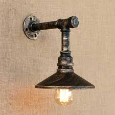 black pipe lighting iron pipe lamp loft style iron water pipe lamp wall sconce with switch