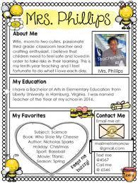 Meet The Teacher Letter Templates Meet The Teacher Letter Editable Template Bee Theme