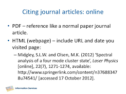 referencing an online essay reference a electronic journal article harvard generator