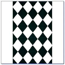 black white checd rug and area field an
