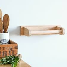 ... Kitchen:Slim Oak Wall Kitchen Roll Holder Natural Finished Space Saving  Wall Mounted Paper Towel