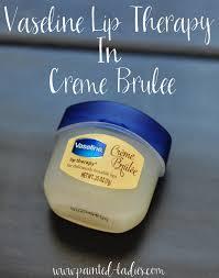 vaseline lip therapy in crème brûlée