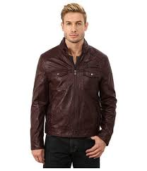 remarkable leather jackets motorcycle faux kenneth cole reaction burdy for men hipster