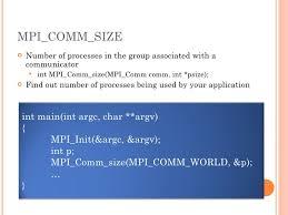 mpi comm size mpi introduction