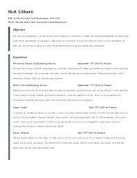 Bar Resume Sample Best Of Resume Examples Bartender Of Resumes Good Objective Samples Sample 24