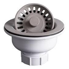 Karran 4 12 In Kitchen Sink Basket Strainer In Concrete Qbscn