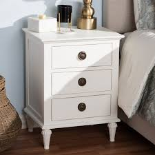 Shabby chic nightstand Paint Shabby Chic Rustic White Nightstand Venezia Rc Willey Furniture Store Wayfair Shabby Chic Rustic White Nightstand Venezia Rc Willey Furniture