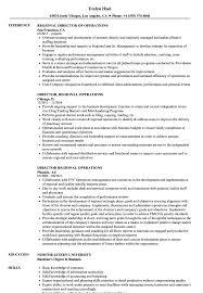 Sample Director Of Operations Resume Director Regional Operations Resume Samples Velvet Jobs 2
