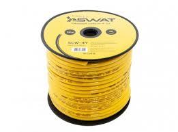 Кабель <b>Swat SCW-4Y силовой кабель</b> yellow - отзывы ...