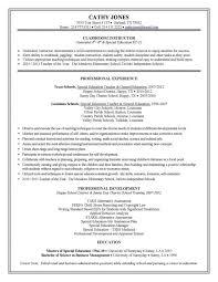 teacher resume examples 2016 for elementary school teacher cv special education cover letter sample