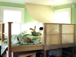 Bunk Bed Canopy Canopies Built In Beds Tent For With House C ...