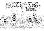 Angry birds go раскраска