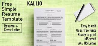 Kallio Simple Resume Word Template Docx