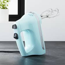 plain mixer in ice blue kitchenaid mixer