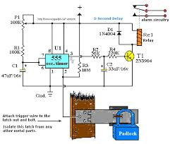 best images about electronics circuit diagram touch activated alarm system using 555 ic