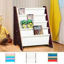image is loading 5 tier kids bookshelf children bookcase organiser magazine