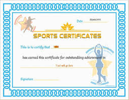 Sports Certificate Template - Bombaynights.info