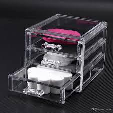 2019 cosmetic organizer storage box transpa acrylic makeup 3 drawers lipstick holder jewelry storage box case drawers display from lotlot