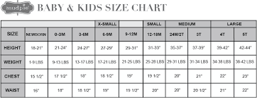 Infant Size Chart Size Chart Baby Mud Pie