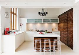 in gallery ingenious use of black chandelier in the kitchen in white from mowlem co