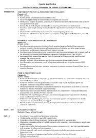 Peer Support Specialist Resume Samples Velvet Jobs