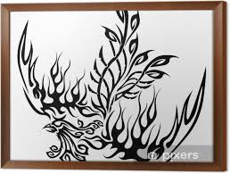 Obraz V Rámu Tetování Se Fénix