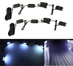 8pc waterproof pickup truck bed white glow led lighting accessories light lamp in headlight bulbs from automobiles motorcycles on aliexpress com alibaba