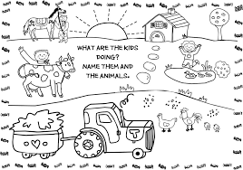 Farm Animal Coloring Pages For Kids Printable Printable Coloring
